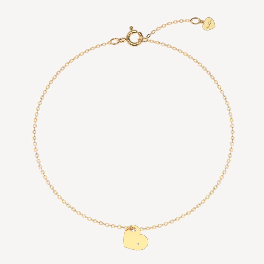 Diamond bracelet Sweet Heart, 14K gold