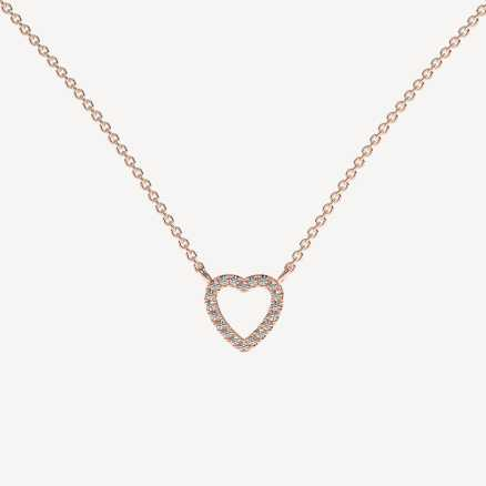 Diamond necklace Tender Heart, 14K gold