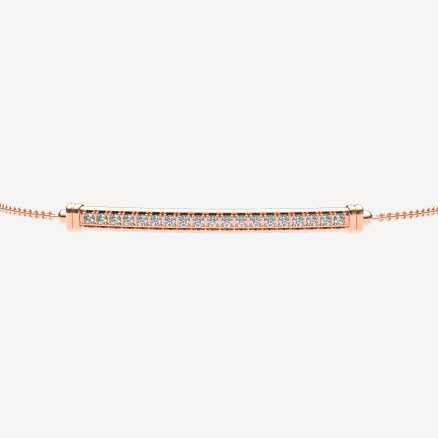 Diamond bracelet Line, 14K gold