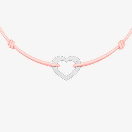 Brilliant bracelet with cord Love, 14kt zlato