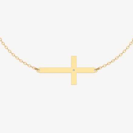 Brilliant bracelet Cross, 14kt zlato