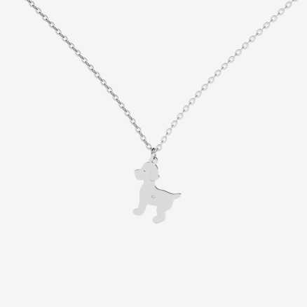 Brilliant necklace Puppy, 14kt zlato