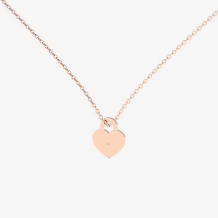 Brilliant necklace Love Lock, 14kt zlato