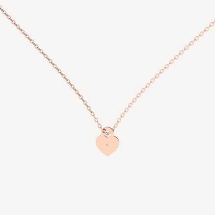 Brilliant necklace Little Love Lock, 14kt zlato