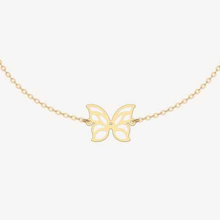 Náramok s briliantom Miracle Butterfly, 14kt zlato