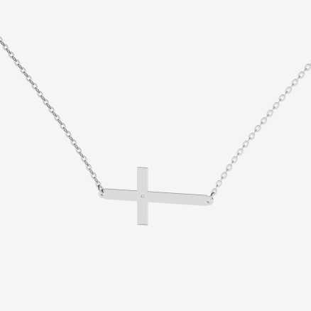 Diamond necklace Cross, 14K gold