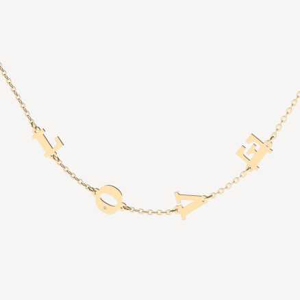 Brilliant necklace Love Letters, 14kt zlato
