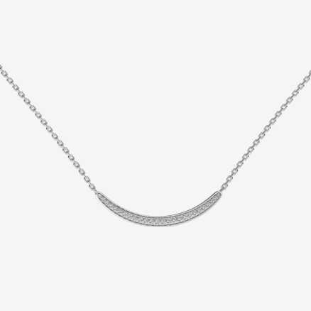 Diamond necklace Sparkling Line, 14K gold