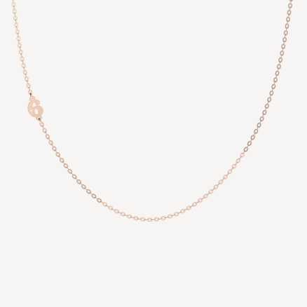 Brilliant necklace Lucky Six, 14kt zlato