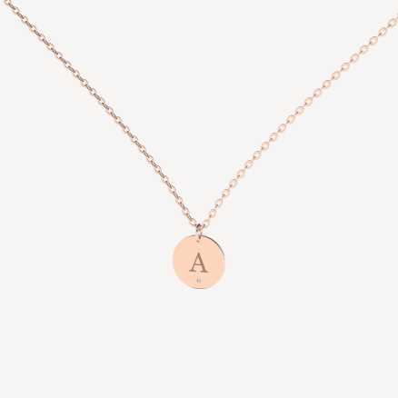 Brilliant necklace Little Circle A, 14kt zlato