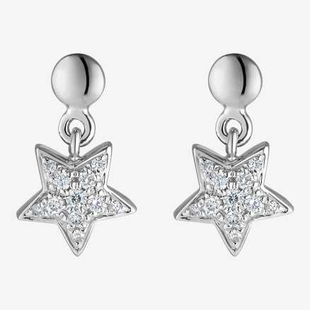 Diamond earrings Amazing Night, 14K gold
