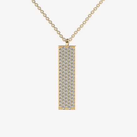 Diamond necklace Shimmer, 14K gold