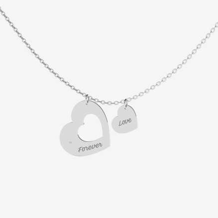 Diamond necklace Love Forever, 14K gold