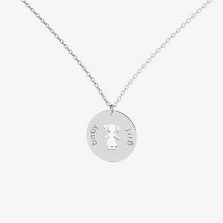 Brilliant necklace Baby Girl, 14kt zlato