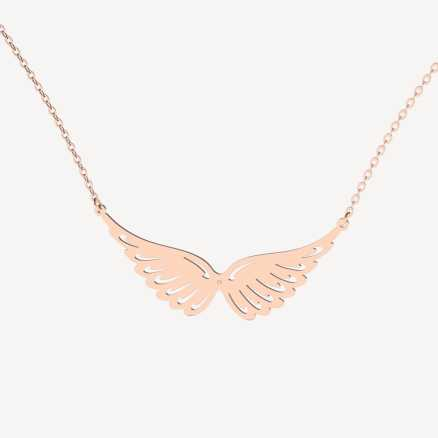 Diamond necklace Wings, 14K gold