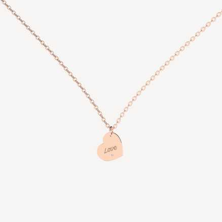 Diamond necklace Love, 14K gold