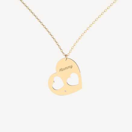 Diamond necklace Mummy, 14K gold
