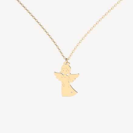 Diamond necklace Little Angel, 14K gold