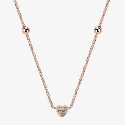 Brilliant necklace Love Waterfall, 14K gold