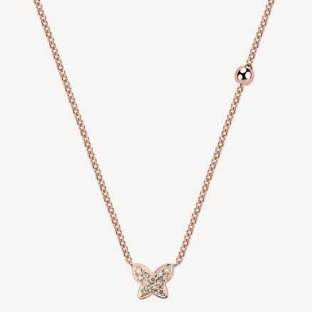Brown diamonds necklace Star Waterfall, 14K gold
