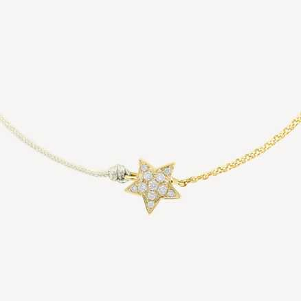 Brilliant bracelet with cord Be a Star, 14kt zlato