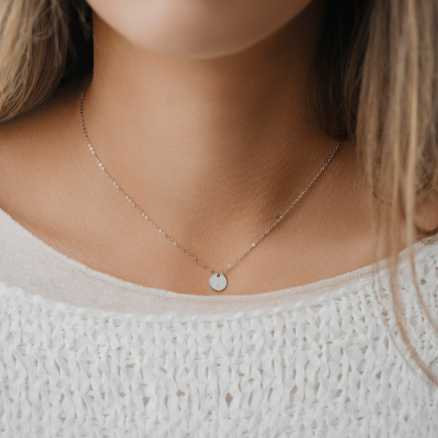 Diamond necklace My Gem, 14K gold na těle
