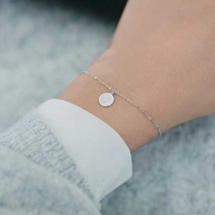 Diamond bracelet My Space, 14K gold na těle
