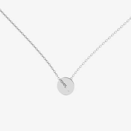 Diamond necklace My World, 14K gold