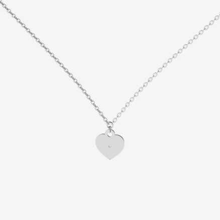 Brilliant necklace Dream Heart, 14kt zlato
