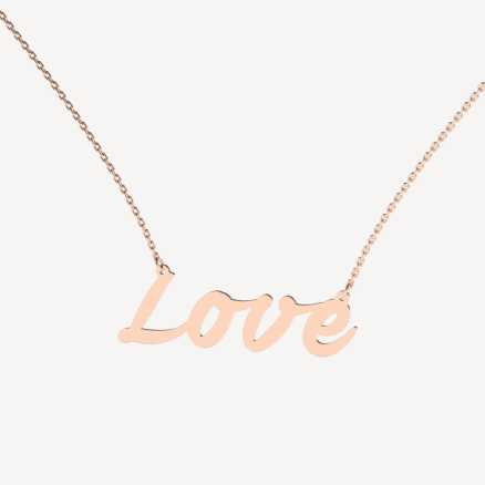 Diamond necklace Love Treasure, 14K gold