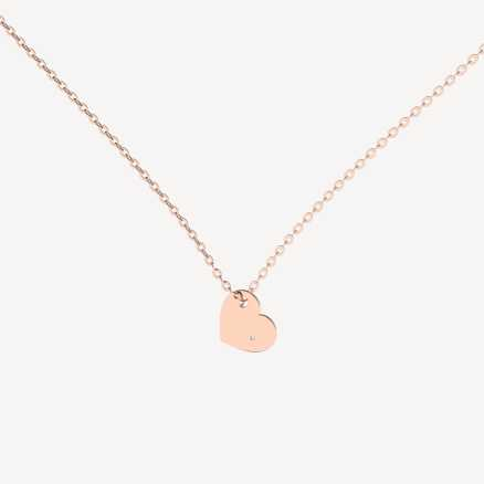 Brilliant necklace Promise Love, 14kt zlato