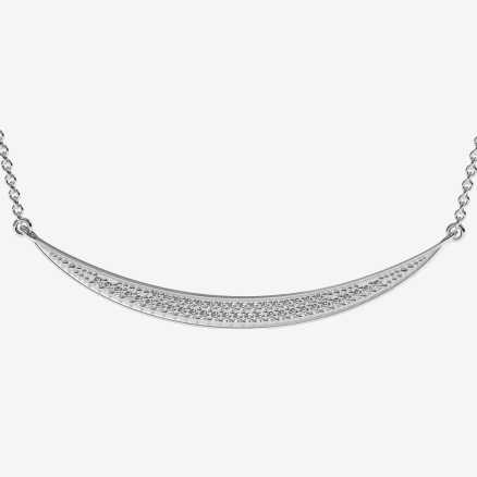 Diamond necklace Line, 14K gold