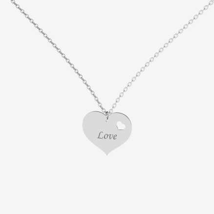 Brilliant necklace Double Love, 14kt zlato