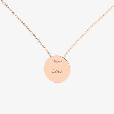 Brilliant necklace Love Splendor, 14kt zlato
