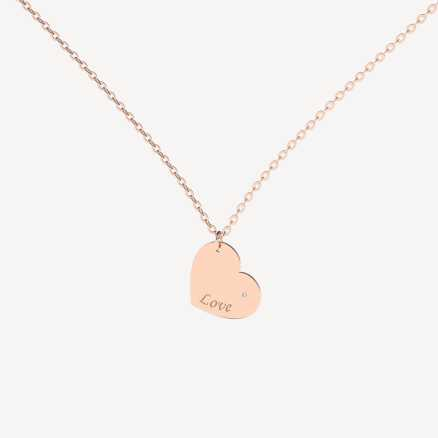 Brilliant necklace Envoy Love, 14kt zlato