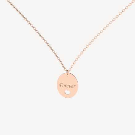 Brilliant necklace Forever Love, 14kt zlato