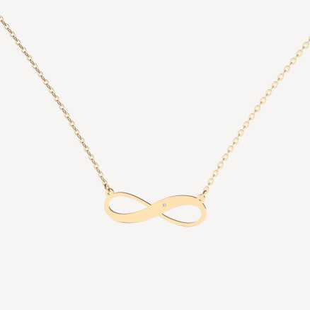 Brilliant necklace Infinite Space, 14kt zlato