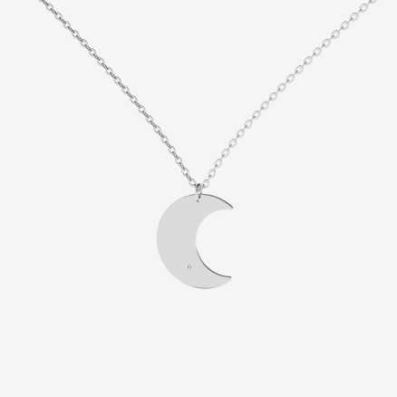 Brilliant necklace Witching Moon, 14kt zlato