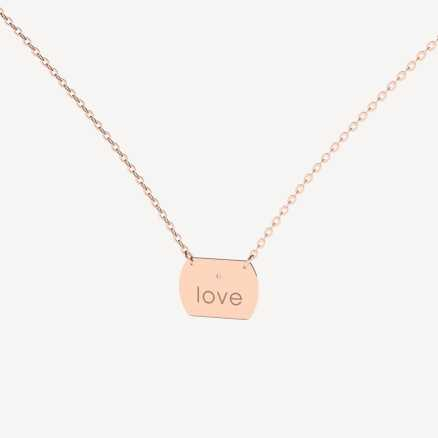 Brilliant necklace Forever Amour, 14kt zlato