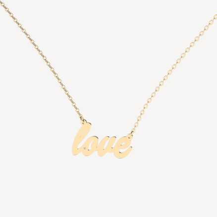 Brilliant necklace Love, 14kt zlato