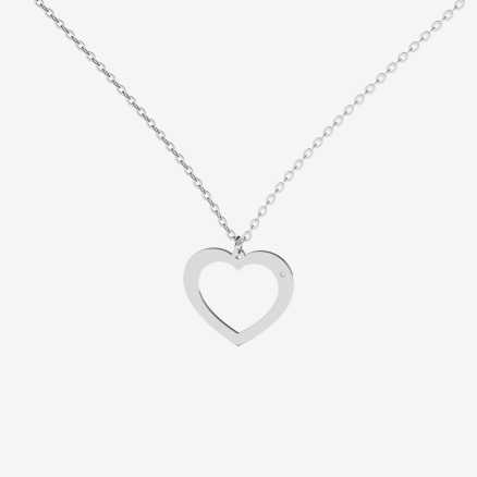 Brilliant necklace One Heart, 14kt zlato