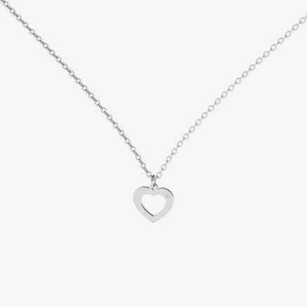Diamond necklace Two Hearts, 14K gold