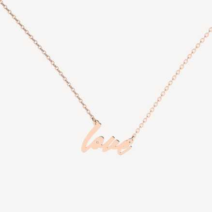 Diamond necklace Love Maker, 14K gold