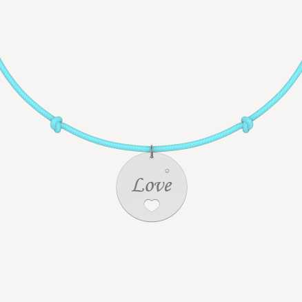 Brilliant bracelet with cord Love Magical, 14kt zlato