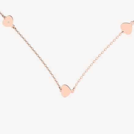 Brilliant necklace Little Hearts, 14kt zlato