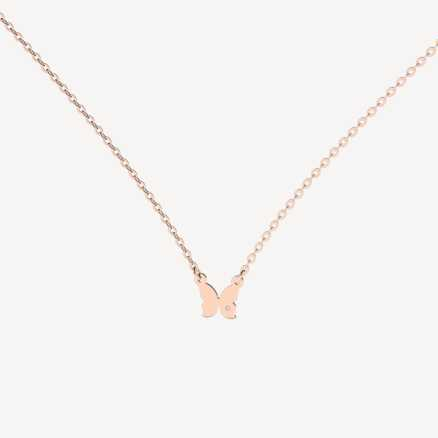 Brilliant necklace Extra Butterfly, 14kt zlato